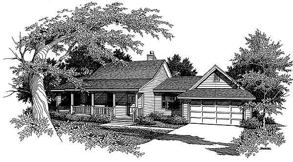 Country House Plan 96571 Elevation