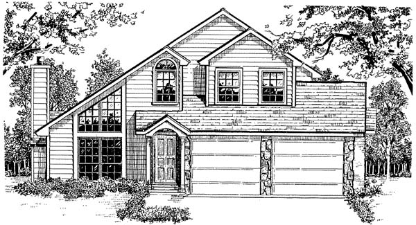 Contemporary Traditional House Plan 96572 Elevation