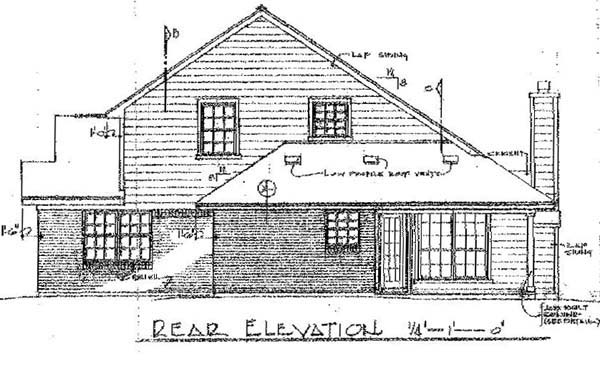 Contemporary Traditional House Plan 96572 Rear Elevation