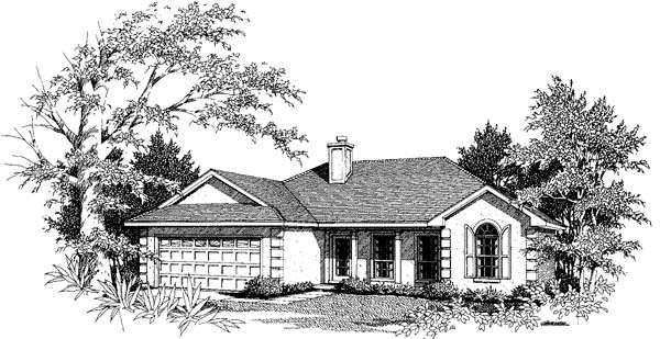 Florida Mediterranean Elevation of Plan 96573
