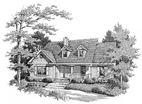 Country House Plan 96574 with 3 Beds, 2 Baths Elevation