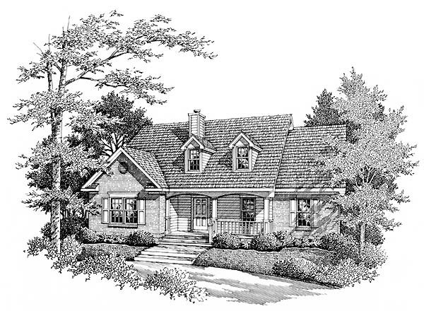 Country House Plan 96574 with 3 Beds , 2 Baths Elevation