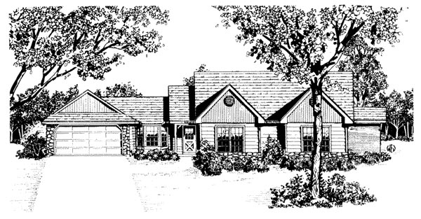 One-Story , Traditional , Elevation of Plan 96578