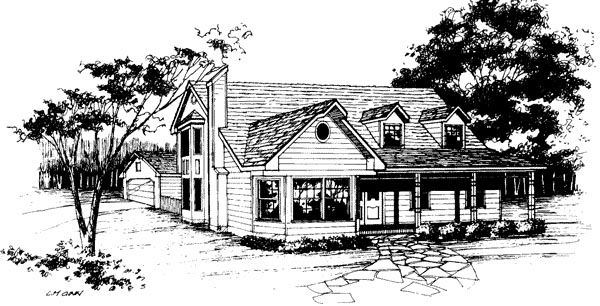 Contemporary, Farmhouse House Plan 96580 with 3 Beds, 2.5 Baths, 2 Car Garage Elevation