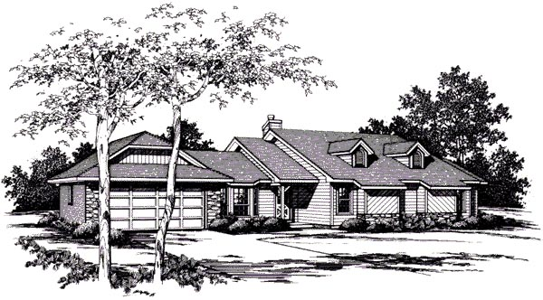 Contemporary House Plan 96583 Elevation