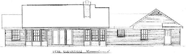 Contemporary House Plan 96583 Rear Elevation