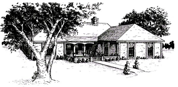 Ranch House Plan 96585 Elevation