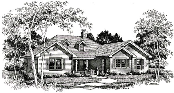 Traditional House Plan 96588 Elevation