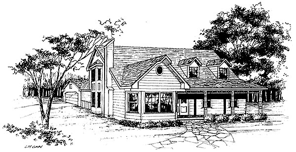 Contemporary, Farmhouse House Plan 96589 with 3 Beds, 2.5 Baths, 2 Car Garage Elevation