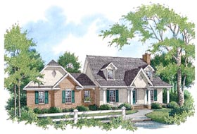 House Plan 96591 | Country Style House Plan with 2375 Sq Ft, 3 Bed, 2.5 Bath, 2 Car Garage Elevation