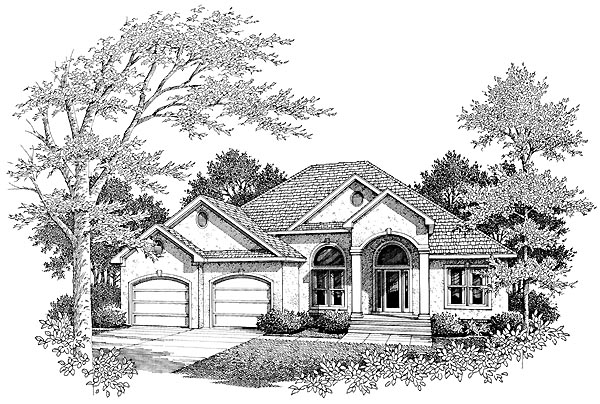 European House Plan 96592 Elevation