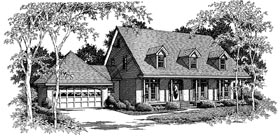 House Plan 96594 | Cape, Cod Style House Plan with 2716 Sq Ft, 4 Bed, 2.5 Bath, 2 Car Garage Elevation