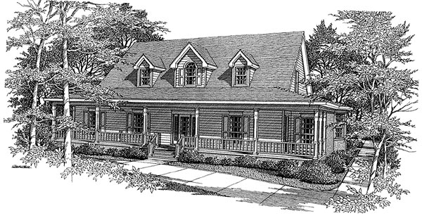 Country House Plan 96597 Elevation