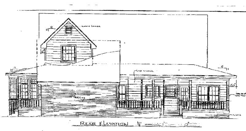 Country House Plan 96597 Rear Elevation