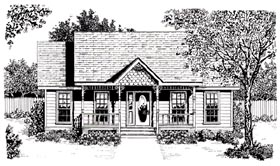 Country Craftsman House Plan 96598 Elevation