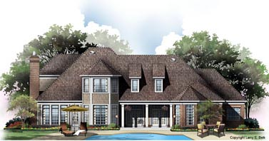 European Tudor House Plan 96603 Rear Elevation