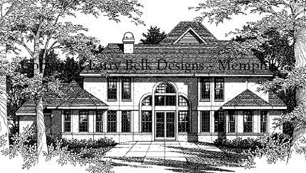 European House Plan 96605 Rear Elevation