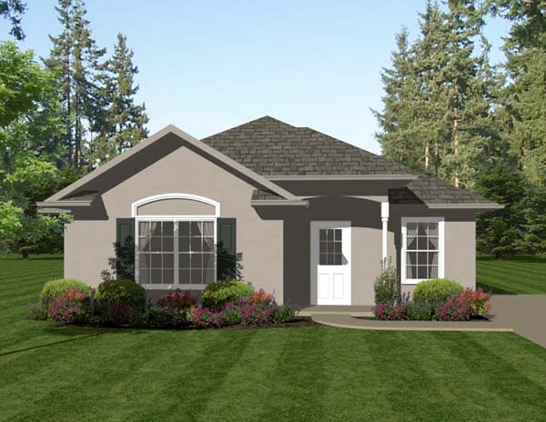 Traditional House Plan 96704 with 2 Beds, 2 Baths Front Elevation