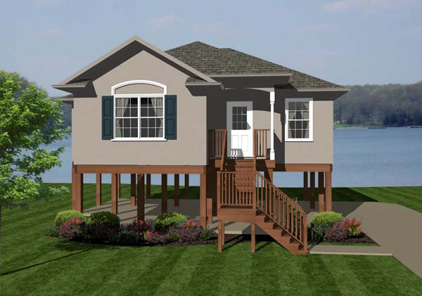 Coastal House Plan 96705 with 2 Beds, 2 Baths Elevation