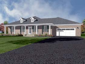 House Plan 96706 | Traditional Style House Plan with 2492 Sq Ft, 4 Bed, 3 Bath, 2 Car Garage Elevation