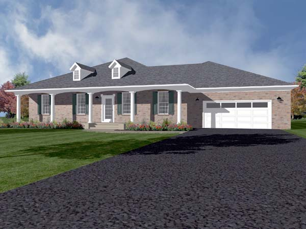 Traditional House Plan 96706 Elevation
