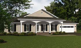 Ranch , Traditional House Plan 96707 with 4 Beds, 3 Baths, 2 Car Garage Elevation