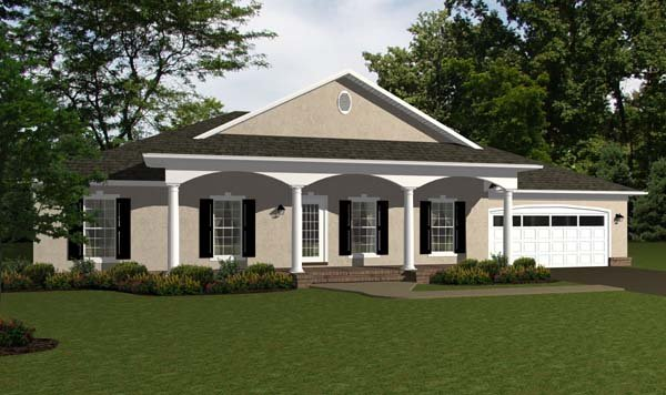 Ranch Traditional House Plan 96707 Elevation
