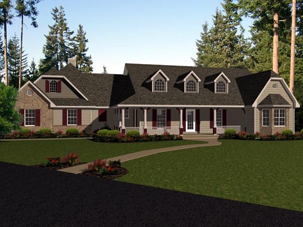 Country European House Plan 96711 Elevation