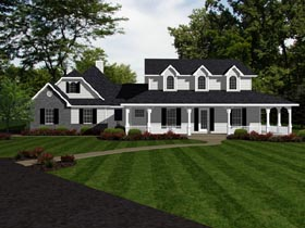 Country European House Plan 96712 Elevation