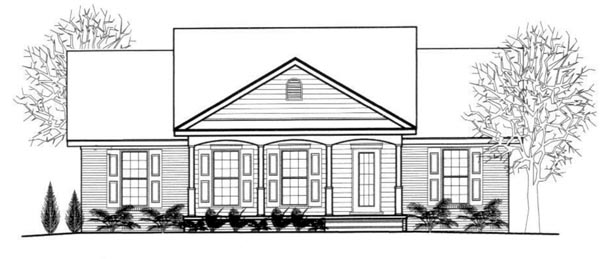 House Plan 96713 with 3 Beds, 2 Baths Elevation