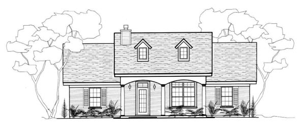 House Plan 96714 with 3 Beds , 2 Baths Elevation