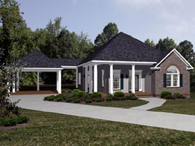 House Plan 96716 with 3 Beds, 2 Baths, 2 Car Garage Elevation