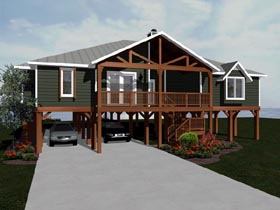 House Plan 96717 Elevation