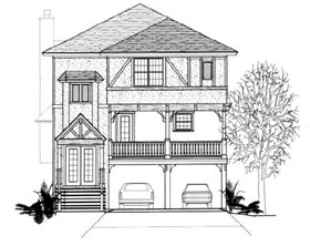 European House Plan 96718 with 3 Beds, 3 Baths Elevation