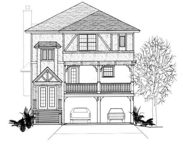 European House Plan 96718 Elevation