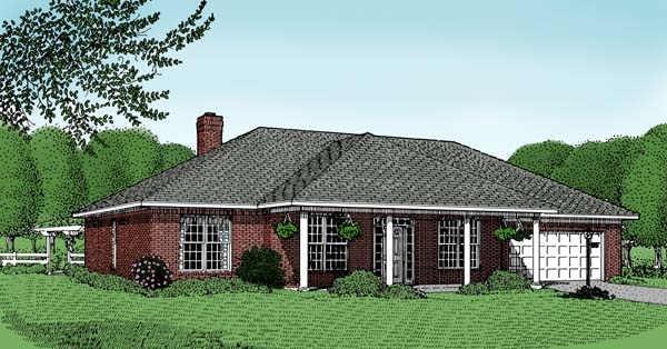 Traditional , Elevation of Plan 96806