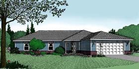 Ranch House Plan 96807 with 3 Beds, 2 Baths, 2 Car Garage Elevation