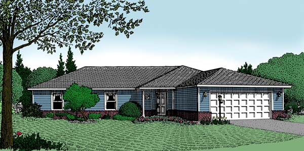 Ranch House Plan 96807 Elevation