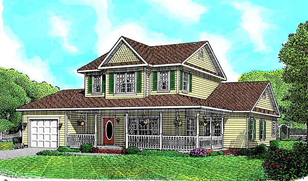 Country Farmhouse House Plan 96808 Elevation