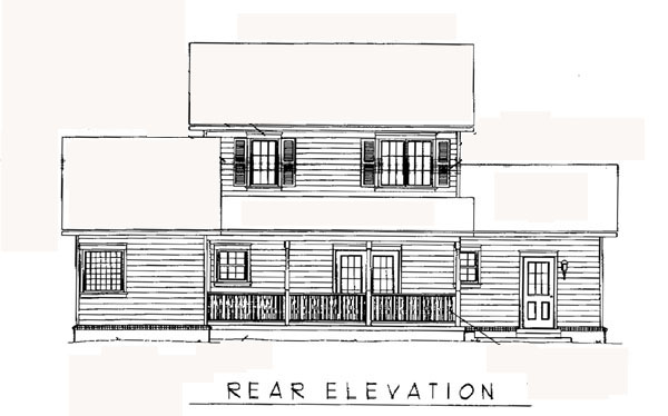 Country Farmhouse House Plan 96808 Rear Elevation