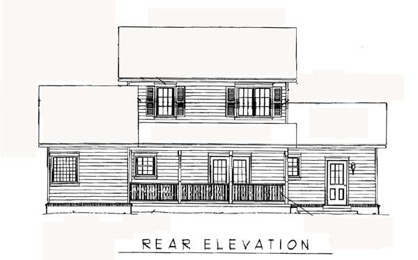 Country Farmhouse House Plan 96808 Rear Elevation