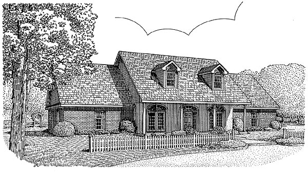 Country Traditional House Plan 96809 Elevation