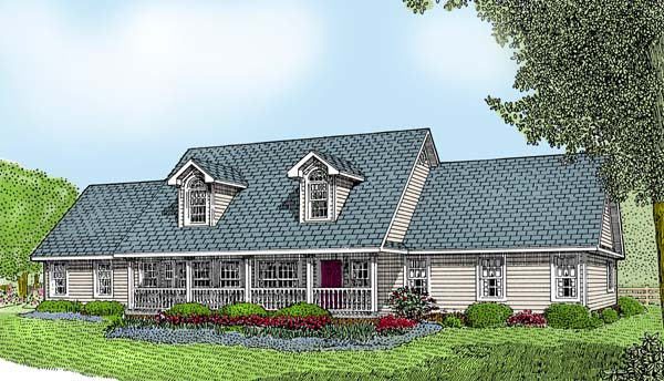 Country House Plan 96811 Elevation