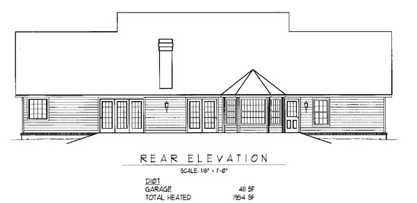 Country House Plan 96811 Rear Elevation