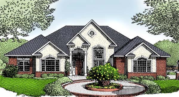 European House Plan 96813 Elevation