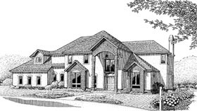 Colonial European House Plan 96816 Elevation