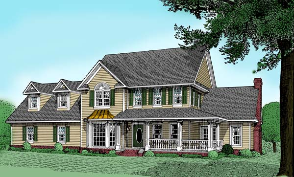 Farmhouse House Plan 96818 Elevation