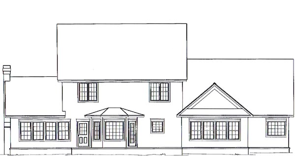 Farmhouse House Plan 96818 Rear Elevation