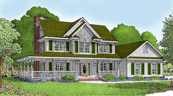 Country Farmhouse House Plan 96819 Elevation