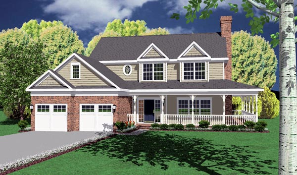 Country Traditional House Plan 96822 Elevation